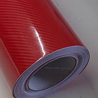 Карбон 6D: красная глянцевая пленка под карбон SCORPIO Premium 1.52м