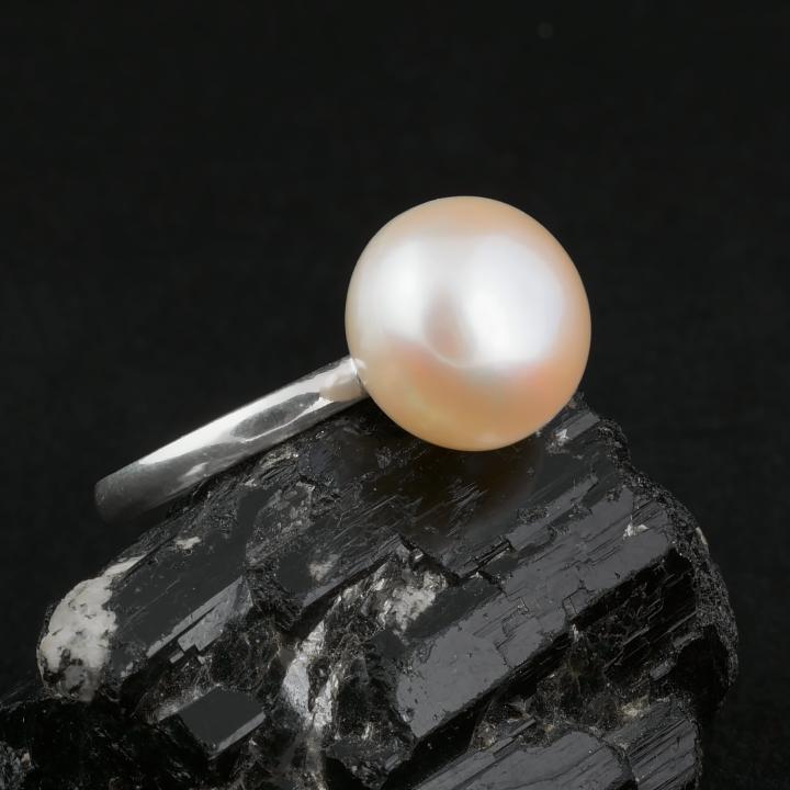 Жемчуг персиковый Ø12, серебро 925, кольцо, 495КЖ - Интернет-магазин