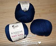 Gazzal Baby Wool - 802 темно синий