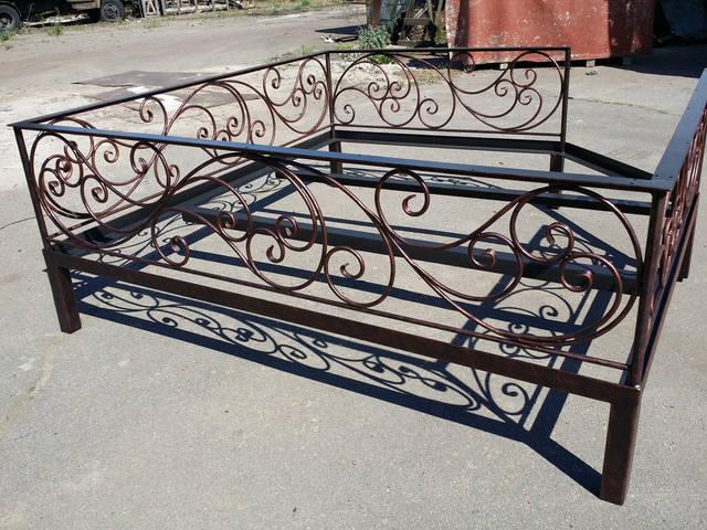 Кованый диван-чайхана -1
