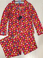 Комплект рубашка и штаны, пижамы женские.