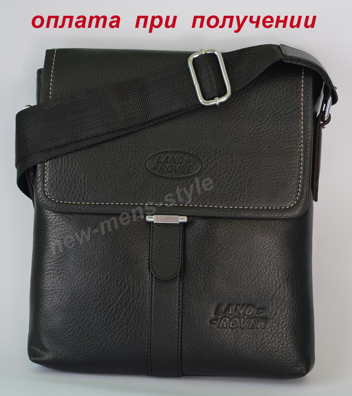 Мужская кожаная фирменная сумка барсетка под Polo, Kangaroo, Jeep (LR)