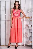 Платье с шифоновой юбкой L р