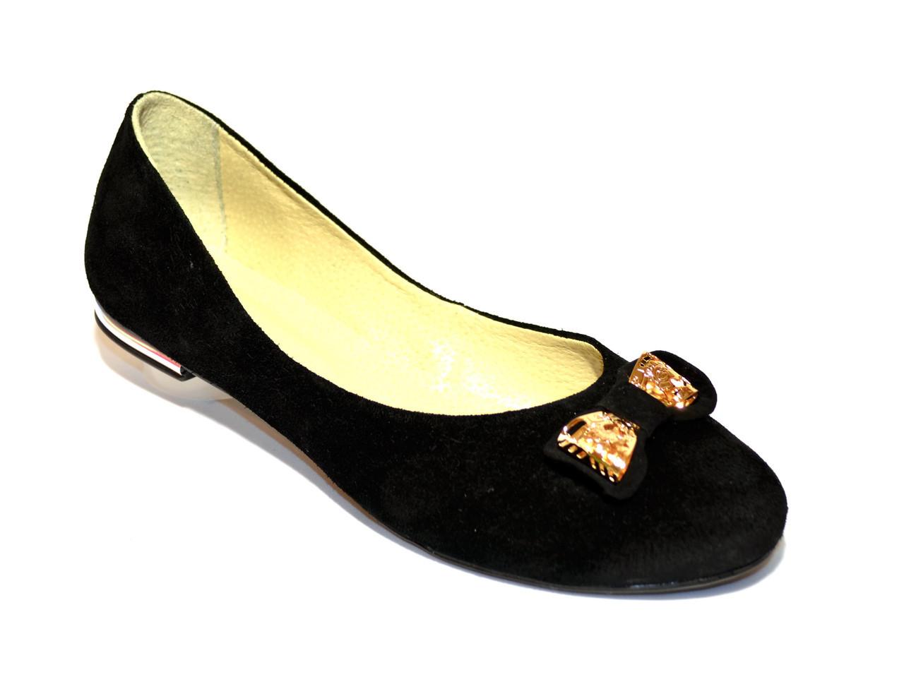 """Туфли замшевые женские на низком ходу. ТМ """"Maestro"""""""