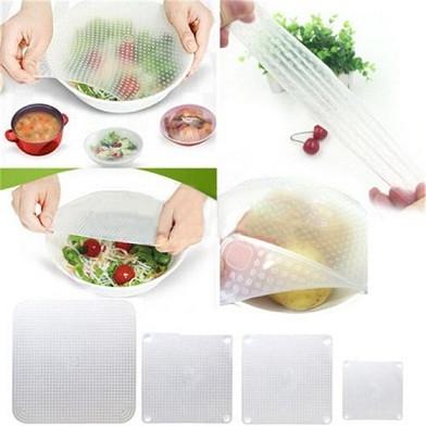 Силиконовые крышки для хранения продуктов Stertch and Fresh (Стрейч Фреш) -пищевая пленка