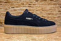 Женские кроссовки Puma Suede Creeper x Rihanna Black/Oatmeal