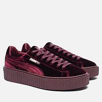 Женские кроссовки Puma x Rihanna Fenty Creeper Velvet Royal/Purple
