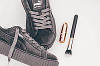 Женские кроссовки Puma x Rihanna Creeper Velvet Grey