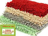 """Коврик из микрофибры """"Макароны или дреды"""" для широкого применения, 80х50 см., красный, фото 2"""