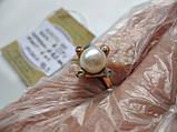 Золото 585 пробы КОЛЬЦО с ЖЕМЧУГОМ 4.07 грамма 18.5 размер, фото 4