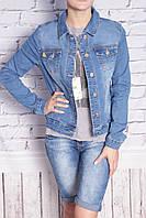 Стильный женский джинсовый пиджак Miss Sara(код 2006)