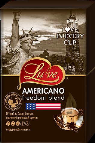 Кофе натуральный жареный молотый Lu've Americano Freedom Blend 250г (вакуум), фото 2