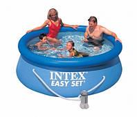 Надувной бассейн Intex 28112, 244 х 76 см + фильтрующий насос
