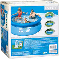 Надувной бассейн Intex 28112, 244 х 76 см + фильтрующий насос, фото 4