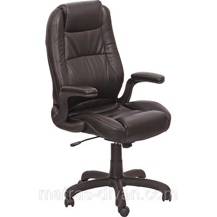 Кресло Мустанг HB кожзам чёрный ( CS-611E PU06 Black)., фото 2