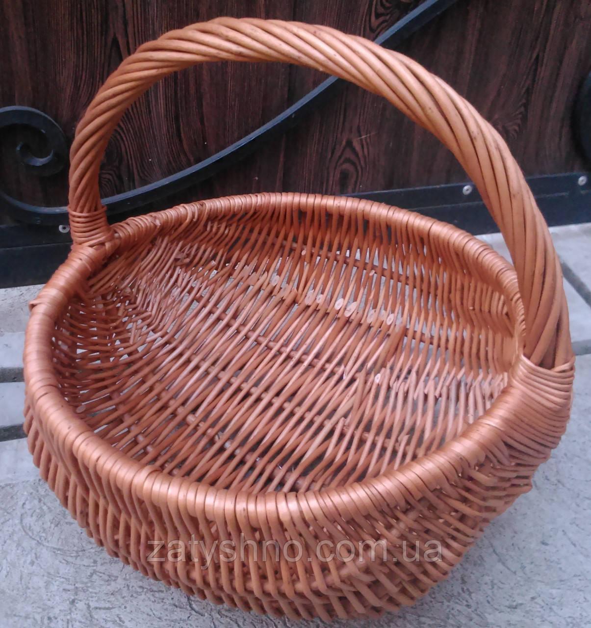 Удобная базарная корзина плетеная