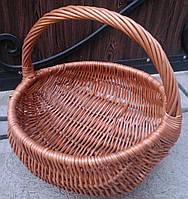 Удобная базарная корзина плетеная, фото 1