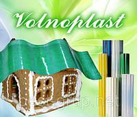 500815 зеленый (1,5 х 20 м) - шифер гофрированный прозрачный в рулонах Volnoplast (Волнопласт)