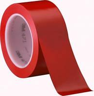 3М 471 Виниловая односторонняя лента, 0,13мм х 50мм х 33м, красная