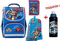 """Комплект. Рюкзак школьный каркасный """"трансформер"""" Transformers TF17-500S + пенал + сумка ТМ """"Kite"""""""