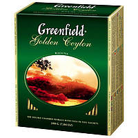 Чай  Greenfield Golden Ceylon пакетированный 100 шт.