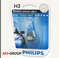 Автолампа PHILIPS H3 Blue Vision Ultra 12336BVUB1