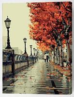 """Картина по номерам """"Дождливая осень"""", 40х50см (на разноцветном холсте)"""