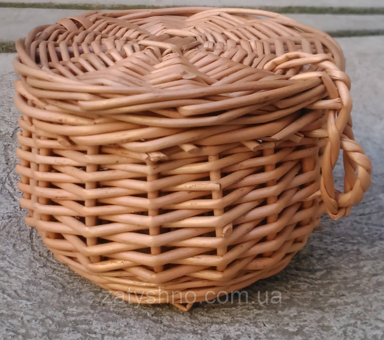 Шкатулка-корзина из лозы