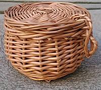 Шкатулка-корзина из лозы, фото 1