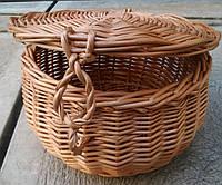 Корзина с крышкой плетеная, фото 1