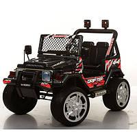 Детский электромобиль джип S-618EBRS-2 колеса ЕВА карбон (черный)