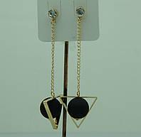 Укращения из Кореи, серьги цепочки с матовыми шариками. Korea сережки-гвоздики 3099