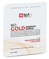 Гидрогелевая омолаживающая маска с коллоидным золотом GOLD Hydrogel Express,TETe Cosmeceutical, Швейцария 1шт