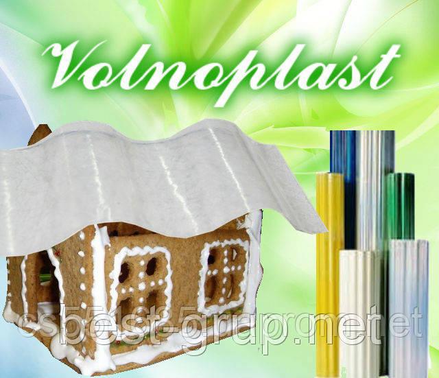 500817 прозрачный (2 х 20 м) - шифер гофрированный прозрачный в рулонах Volnoplast (Волнопласт)