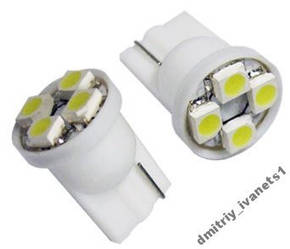 T10 4-SMD LED W5W лампочка автомобільна