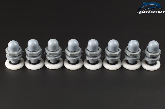 Комплект роликов эксцентриков B-27A с диаметрами колесиков от 19 мм до 28 мм.