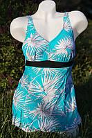 Женский, купальник-платье с цветочным принтом. РАЗНЫЕ ЦВЕТА