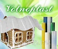 500816 прозрачный (2,5 х 20 м) - шифер гофрированный прозрачный в рулонах Volnoplast (Волнопласт)