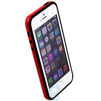Чехол бампер для iPhone 5 Bampers черно-красный