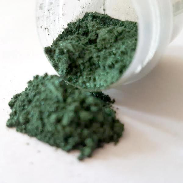 """Пудра для декорирования MicaMe""""Green Leaf"""" Зеленый лист,1 г"""