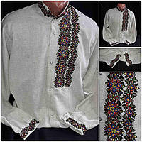 """Стильная мужская вышиванка """"Модерн"""", лен,  42-56 р-ры,  630/580 (цена за 1 шт. + 50 гр.), фото 1"""