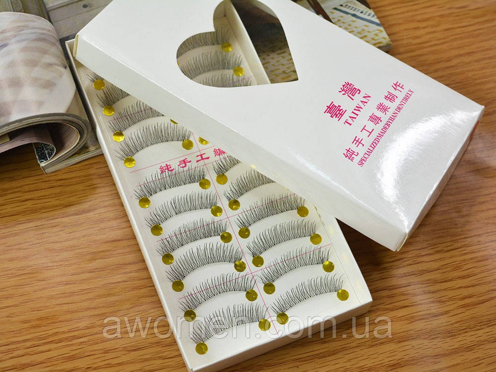 Реснички 10 пар на силиконовой основе 217 (Тайвань)