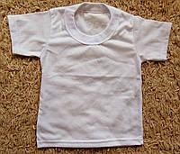 Детская белая футболка кулир