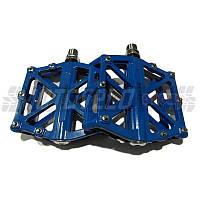 Педали велосипедные алюминиевые на промподшипнике, mod:10 (#MD) TAIWAN цвет:синий (пара)