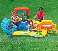 Надувной детский игровой центр Intex 57444. Мини-бассейн с горкой.