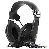 Гарнитура SOYTO SY750MV черная игровая с микрофоном и мягкими амбушюрами джек 3,5 + USB музыкальная смартфона