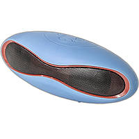 Портативная колонка Lesko BL mini-X6 синяя звук бас спикер динамик для телефона смартфона Bluetooth музыка MP3