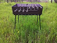 Мангал, чемодан на 8 шампуров с регулировкой высоты 1,2 мм