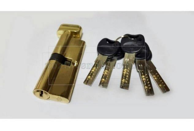 Цилиндровый механизм с ручкой «Империал» Латунь, 30/60 мм, фото 2