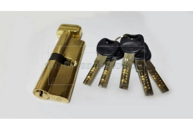 Цилиндровый механизм с ручкой «Империал» Латунь, 60/30 мм